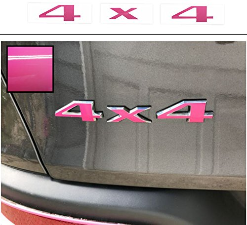 Reflective Concepts – 4×4 Emblem Overlay Decal Sticker – Fits: 2007-2017 Jeep Patriot – (Color: Hot Pink)
