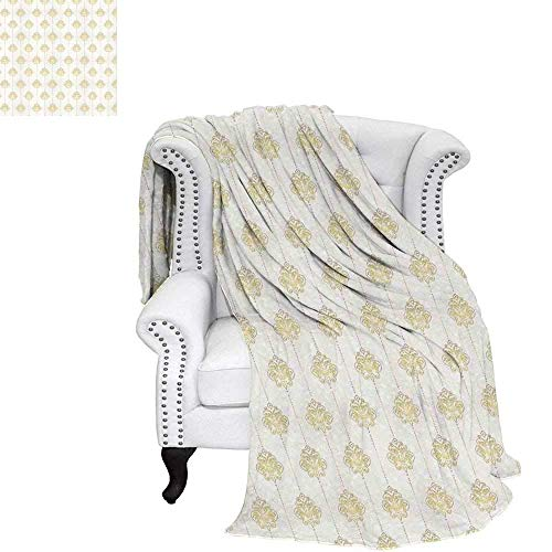 Border Swirl Dot (CHASOEA Vintage Travel Throw Blanket Ornamental Tracery Inspired Lines Swirl Curl Elements Vertical Borders with Dots Velvet Plush Throw Blanket 70