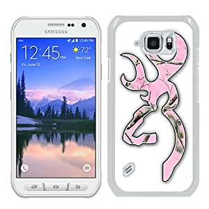 Abstract Custom Samsung S6 Active Case,Browning 10 White Cool Design Samsung Galaxy S6 Active Phone Case