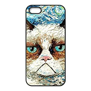 Aggrieved White cat Cell Phone Case for iPhone 5S by lolosakes