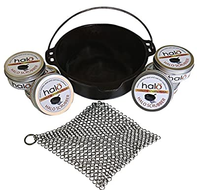 Halo Scrubby, Preferred Premium Cast Iron Skillet and Stainless Steel Cookware Scrubber