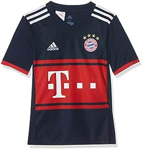 adidas FCB A JSY Y Camiseta 2ª Equipación Bayern Munich 2017-2018, niños, Azul (Maruni/rojfcb), 176