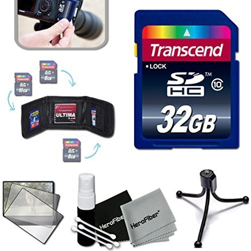 Transcend 32GB High Speed Memory Card KIT for Samsung NX500, NX1, NX3000, WB2200F, WB1100F, NX30, NX, NX2000, NX1100, NX300, NX300M, EX2F, NX1000, NX210, NX20, NX200, SH100 Digital Cameras
