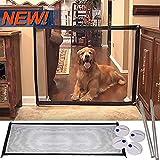 Newest Elastic Magic Gate 0.6m~1.2m Adustable Length Retractable Pet Safety Enclosure Portable Pet Dog Cat Isolated Gauze Folding Safe Guard