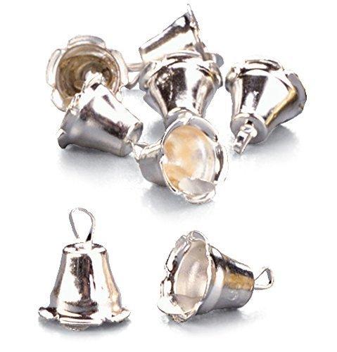 lot de 50 HobbyFun miniature grelots//clochettes argent/é 1 cm