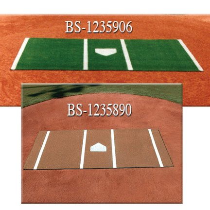 (6' x 12' Synthetic Turf Pitcher's Mat)