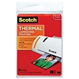 Scotch Thermal Laminating Pouches, 5 Inches x 7 Inches, 20 Pouches, 4-PACK