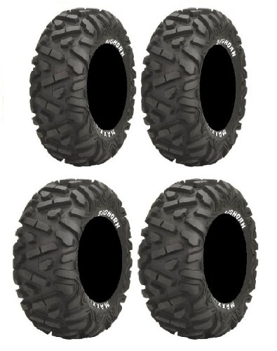 Full set of Maxxis BigHorn Radial 25x8-12 and 25x10-12 ATV Tires ()