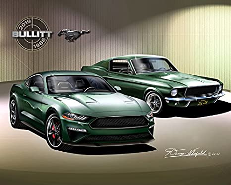 2019 Ford Mustang Bullitt Poster