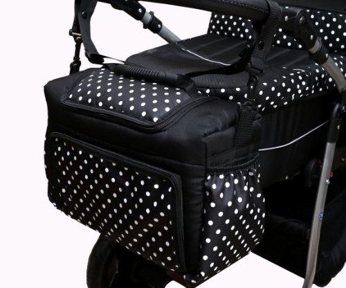 TK-16 Wickeltasche KIM von Baby-Joy XXXL Übergröße BRAUN-LEO Windeltasche Pflegetasche Babytasche Tragetasche