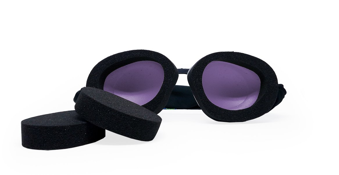 Tranquileyes Travel and Sleep Kit Sleep Mask for Nighttime Dry Eye Relief (Basic Lavender) by EYEECO
