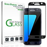 Electronics : Galaxy S7 Screen Protector Glass (3D Curved Full Screen Coverage), amFilm Bye-Bye-Bubble Samsung Galaxy S7 Tempered Glass Screen Protector [NOT S7 Edge] Screen Protector 2016