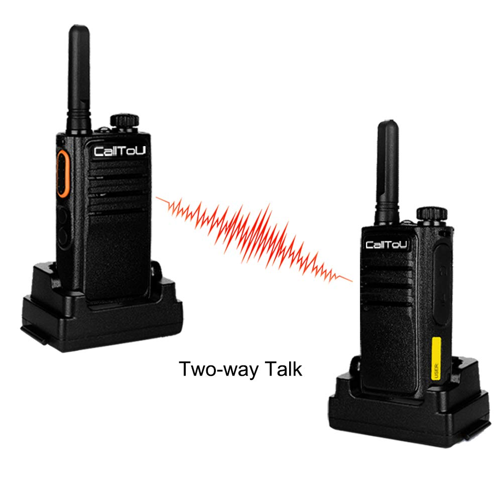 Wireless Home Intercom System 1.5 Miles Long Range 16-Channel for Office Hotel Portable Caregiver Pager for Elgerly 2 Pack Two Way Radio for Kids with Call Shock and Flashlight