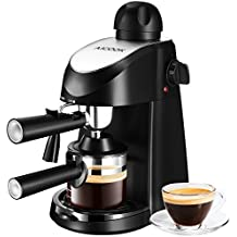 Espresso Machine, Aicook 3.5Bar Espresso Maker, Espresso and Cappuccino Machine with Milk Frother, Espresso Maker with Steamer, Black