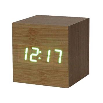 Weant horloge Murale Aiguille Horloge 1PC Numérique LED Bambou en ...