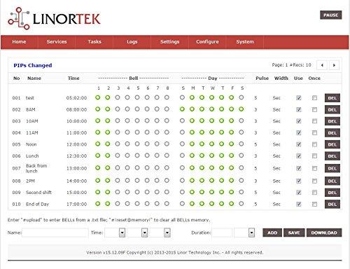 Linortek Netbell-2 TCP/IP Ethernet 2 Zone Bell Ringer Web-based Bell Controller for 110V 10A Alarm Signal Bell/Horn/Buzzer and Other Timed Equipment POE by Linortek (Image #4)