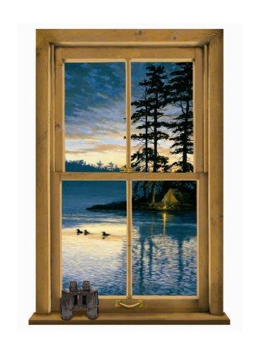 - York Wallcoverings Lake Forest Lodge WG0445M Log Cabin Scenic Mural, Multi by York Wallcoverings
