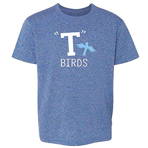 T Birds Gang Logo Costume Retro 50s 60s Costume Heather Royal Blue M Youth Kids T-Shirt]()
