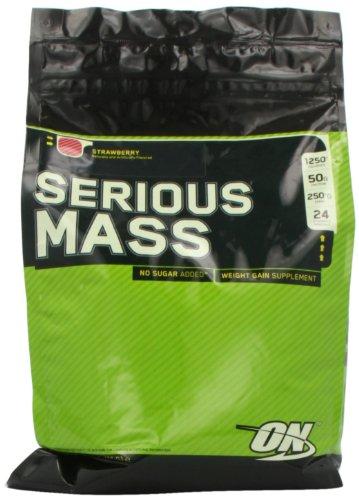 Optimum Nutrition Serious Mass Drink, Strawberry, 12 Pound, Health Care Stuffs