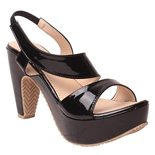 8b3164ffaa8 Feel it Comfortable Leatherite Casual Formal Block Heel Sandals for Women s    Girl s - (