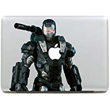 "DallowayCabin Marvel Comic Super Hero Iron Man/SpiderMan Removable Vinyl Sticker Decal for Apple Macbook/Macbook Air/Macbook Pro 13""/15""/17"" (Iron Man with Armour, Macbook 13"")"