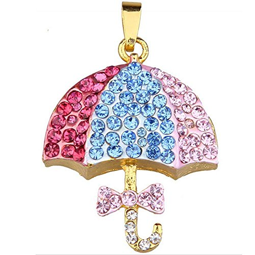 Price comparison product image Eastlion Crystal Colorful Umbrella Necklace 32g USB Flash Drive with Rhinestones