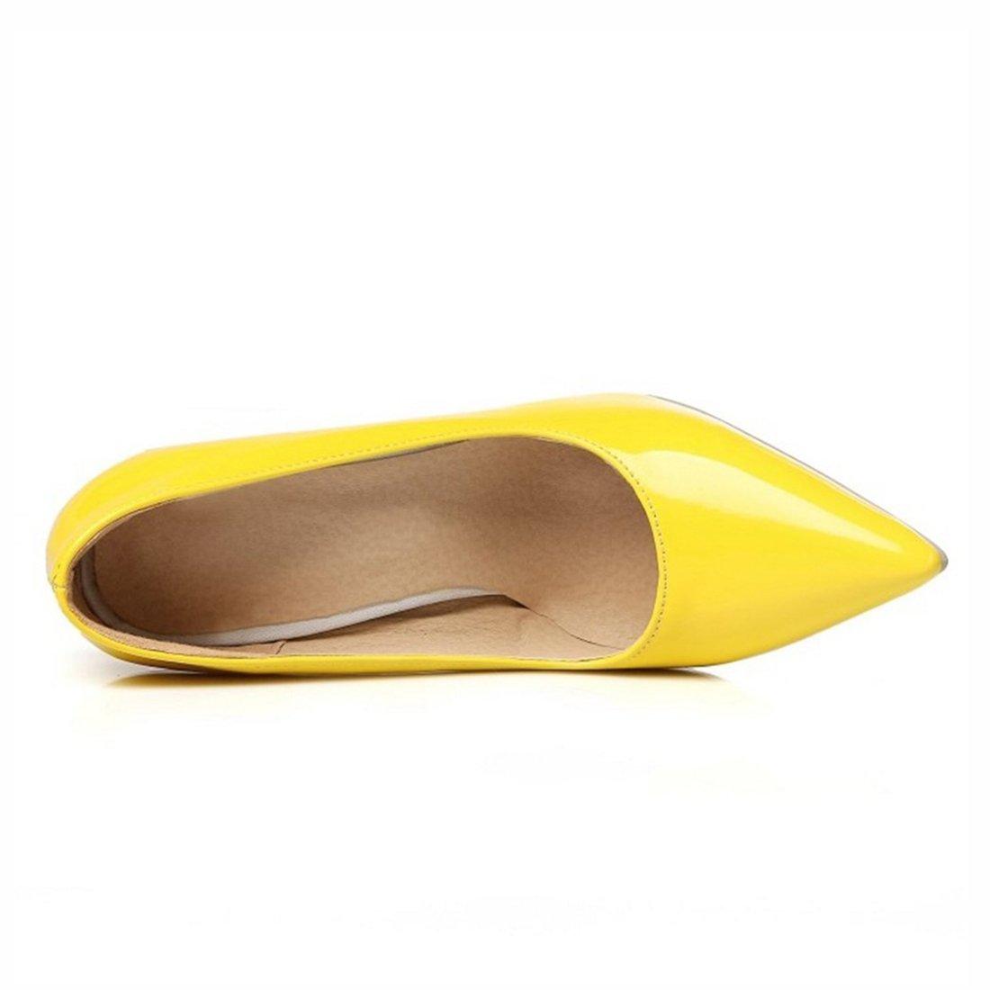 Agodor Damen High Heels Lack Pumps mit Spitze und Stiletto Elegant Arbeit  Büro Schuhe Nubuk Blau , AIYOUMEI Damen Lack Pumps mit Blockabsatz und  Perlen ... 199cf6b799