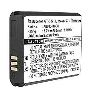 Akku-King batería para Samsung XCover 271, GT-B2710 - Li-Ion como AB803446BU - 750mAh