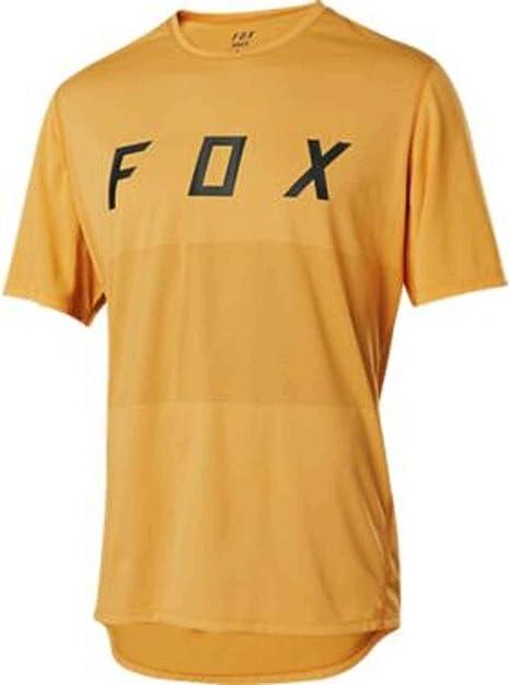 Fox Head Ranger SS Foxhead - Camiseta de ciclismo para hombre, Medium, Naranja/Azul - M: Amazon.es: Deportes y aire libre