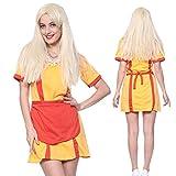 2 Broke Girl Max & Caroline Waitress Uniform Cosplay Fancy Dress Party Costume