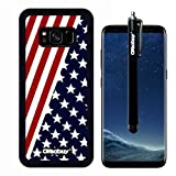 Galaxy S8 Case, Diagonal D American Flag Case, OkSoBuy Ultra Thin Soft Silicone Case for Samsung Galaxy S8 - Diagonal D American Flag