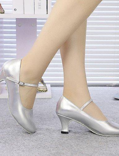 ShangYi Non Customizable Womens/Kids Dance Shoes Modern Sparkling Glitter/Synthetic Cuban Heel Black/Blue/Red/Gray/Gold Light Blue