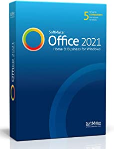 SoftMaker Office 2021 - Word processing, spreadsheet and presentation software for Windows 10 / 8 / 7 - compatible with Microsoft Office Word, Excel and PowerPoint - for 5 PCs