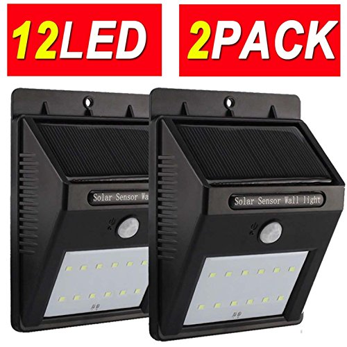 12LED 2PACK Promotion Limited-days Only Upgraded Super Bright Kingsolar Solar Motion Light Weatherproof Outdoor Solar Light Wireless Solar Motion Security Light Solar Motion Activated Security Light