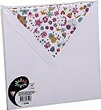 Clairefontaine Pollen 53500C Pack de 10 Enveloppes 16,50 x 16,50 x 0,10 cm Blanc