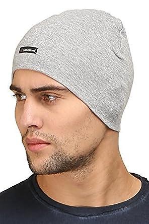 7128fa6fde0 FabSeasons Men s Cotton Skull Cap Free Size Gray  Amazon.co.uk  Clothing