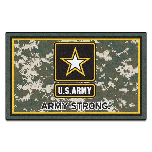 Fanmats Military  'Army' Black Knights Nylon Face 4X6 Plush Rug by Fanmats