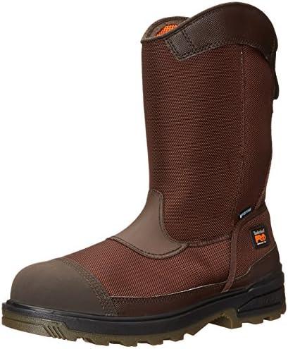 PRO メンズ モルタル プルオン CSA 複合つま先 防水 作業用&狩猟用ブーツ