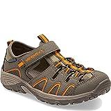 Merrell Hydro H2o Hiker Sandal Sport, Gunsmoke/Orange, 5 Wide US Big Kid