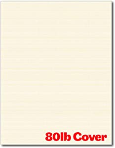 Heavyweight Linen Textured Cardstock - 50 Sheets - Blank Thick Paper for Inkjet/Laser Printers (Natural)