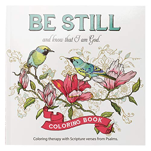 Pdf Crafts 'Be Still' Inspirational Adult Coloring Therapy Featuring Psalms