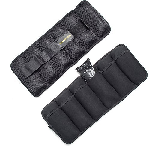 Gold's Gym Adjustable Wrist/Ankle Weights, 10 lb
