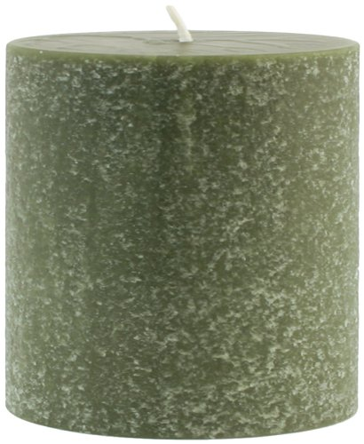 Root Candles Unscented Timberline Pillar Candle , 3 x 3-Inches , Dark Olive