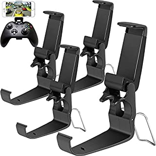 Jovitec Phone Clip One Foldable Controller Phone Clip Holder Game Clamp Mount Clamp for Xbox, Android, Mobile Phone Smart Phone (4 Pack)