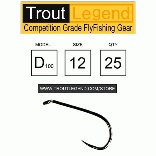 TroutLegend Barbless Competition Hooks - D100 - Dry - 12 ()