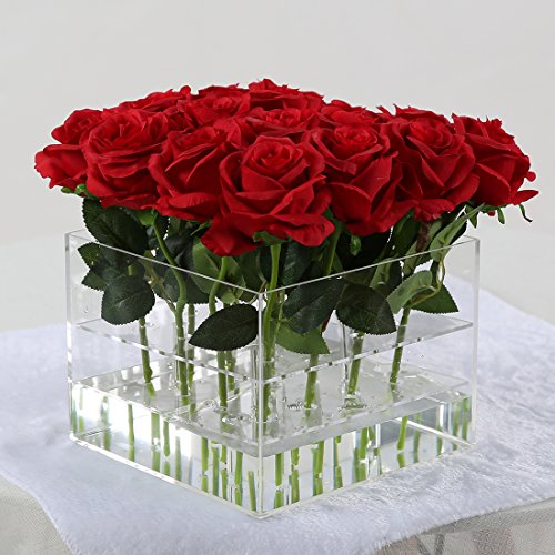 Shoes 2 Free Ship (New arrival 1pc acrylic flowers packing box for hold 16pcs roses (16 holes box,not including roses))