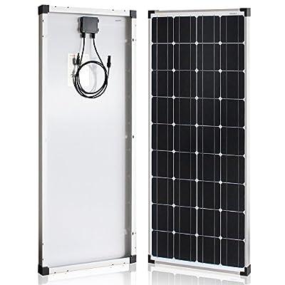 Richsolar 100 Watt 12 Volt Monocrystalline Solar Panel with MC4 Connectors 12 Volt Battery Charging RV, Boat, Off Grid