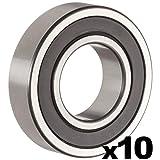 6204-2RS Sealed Ball Bearing - 20x47x14 - Lubricated - Chrome Steel (10 PCS)