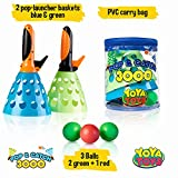 YoYa Toys Pop & Catch Launcher Basket With 3 Balls | For Girls, Boys, Adults, Indoors & Outdoors | Promote Fine Motor Skills, Improve Kinesthetic Learning & Hand To Eye Coordination | In A Carry Bag