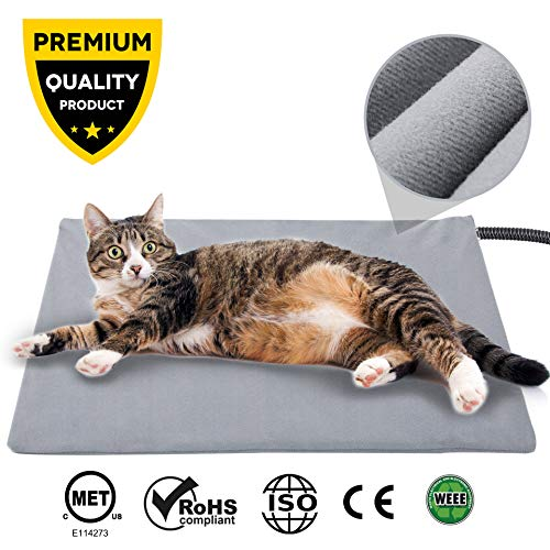Pet Heating Pad for Cats Dogs,17.7''x15.7''  Auto Temperature Control Waterproof Indoor, Whelping Supply for Pregnant New Born Pet